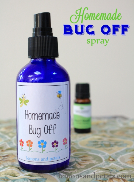 homemade bug off spray Lemons & Petals