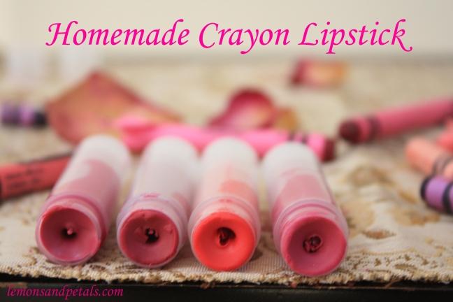 Homemade Crayon Lipstick Lemons & Petals