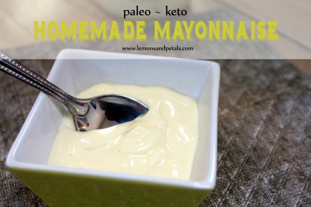 Homemade mayo lemons petals