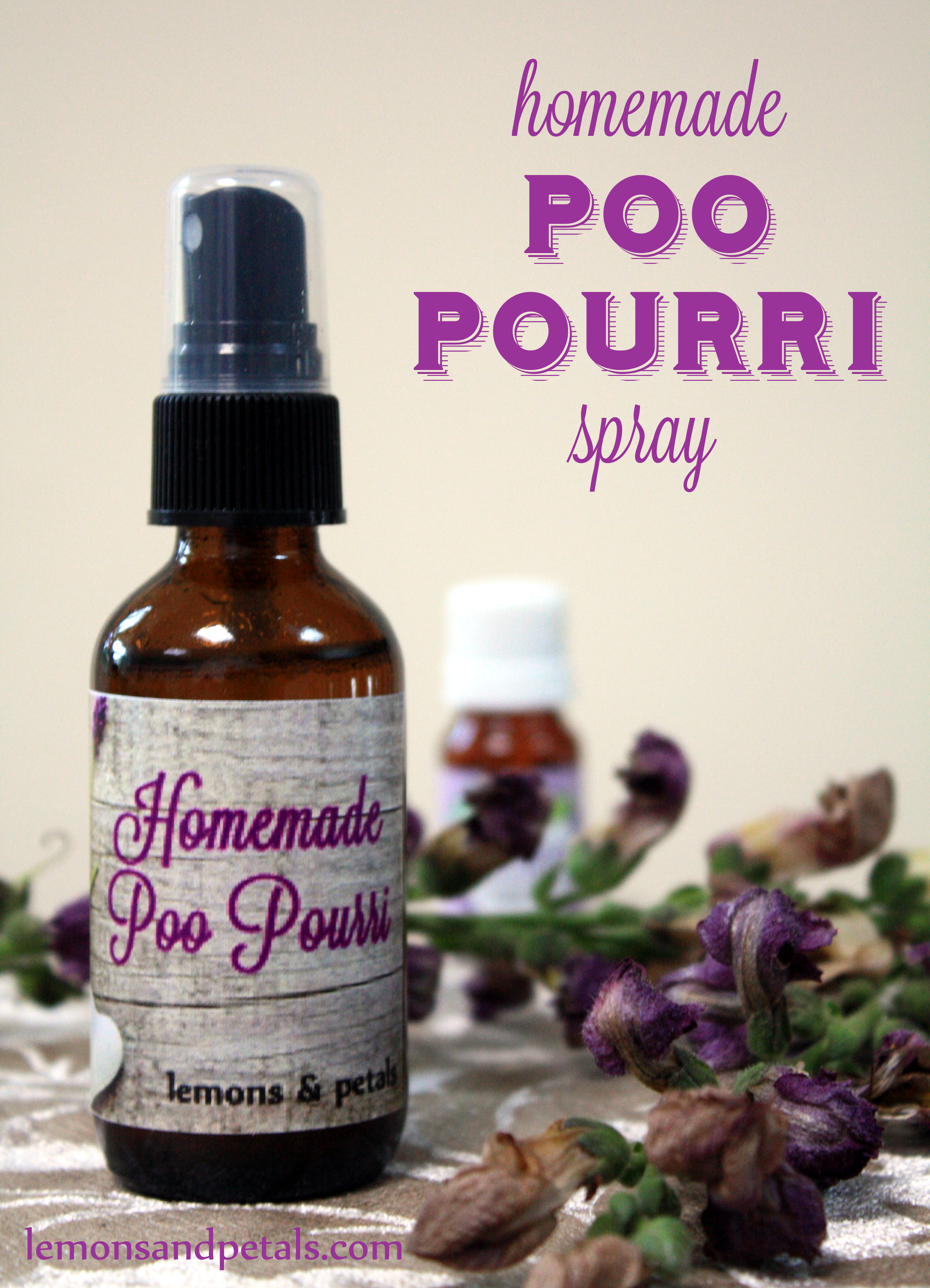 diy poo pourri spray | lemons & petals
