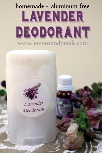 lavender deodorant lemons petals