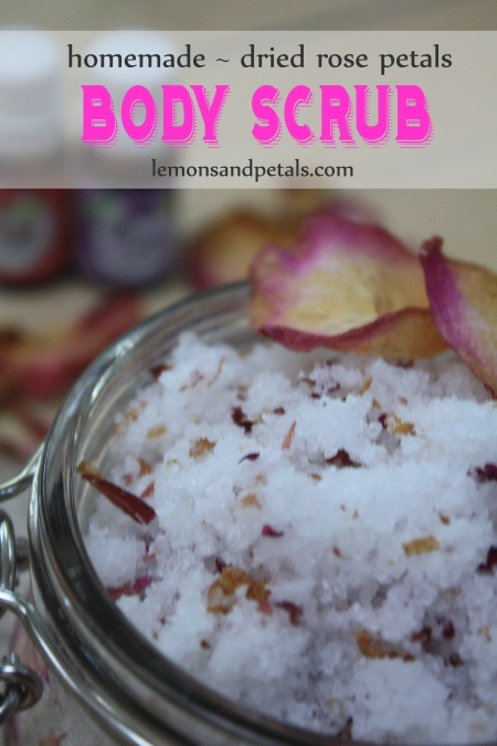 Rose Petals Body Scrub Lemons & Petals